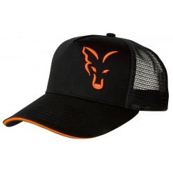 Czapka Fox Black&Orange Trucker Cap